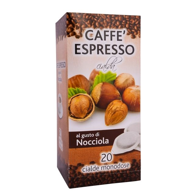 ITALIAN FLAVOR COFFEE PODS- 20 PODS BOX HAZELNUT - GROUND COFFEE PODS