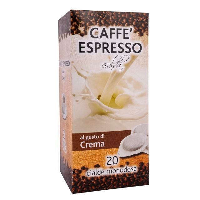 ITALIAN FLAVOR COFFEE PODS- 20 PODS BOX CREAM - GROUND COFFEE PODS