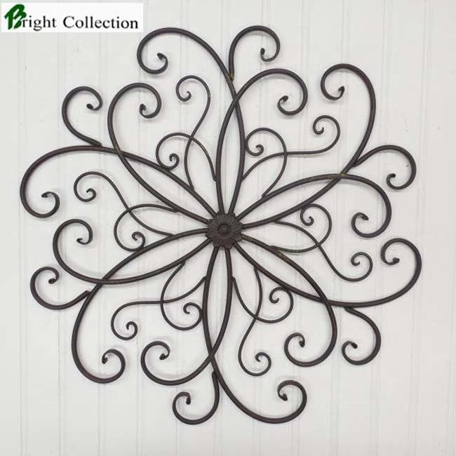 metal round scroll wall art