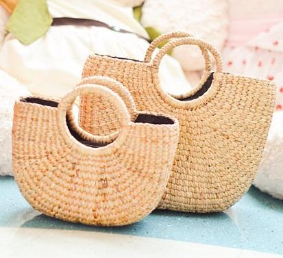 Wholesale new design summer ladies straw handbag bags by 1001 craft villages