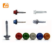 RAL hex washer head self-drilling screw with color painted metal roofing screws
