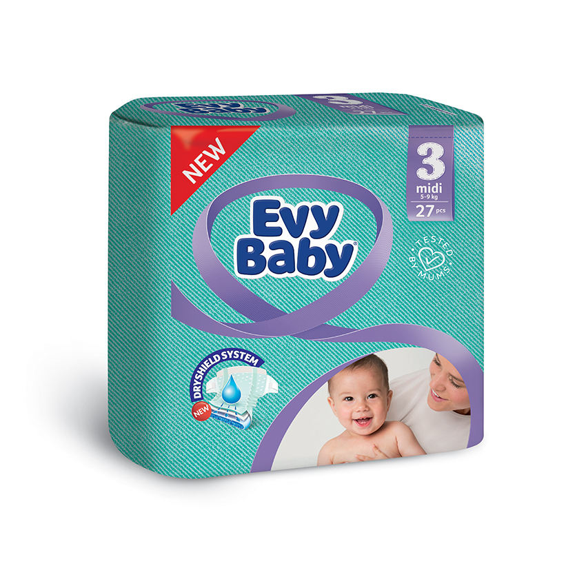 Best For Your Baby Softer Diaper Dual Leakage Protection High Quality Baby Diaper By Evyap