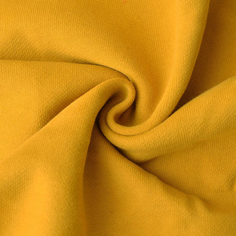 Heavy 100% cotton brushed french terry knitted fabric for hoodies sweatshirt