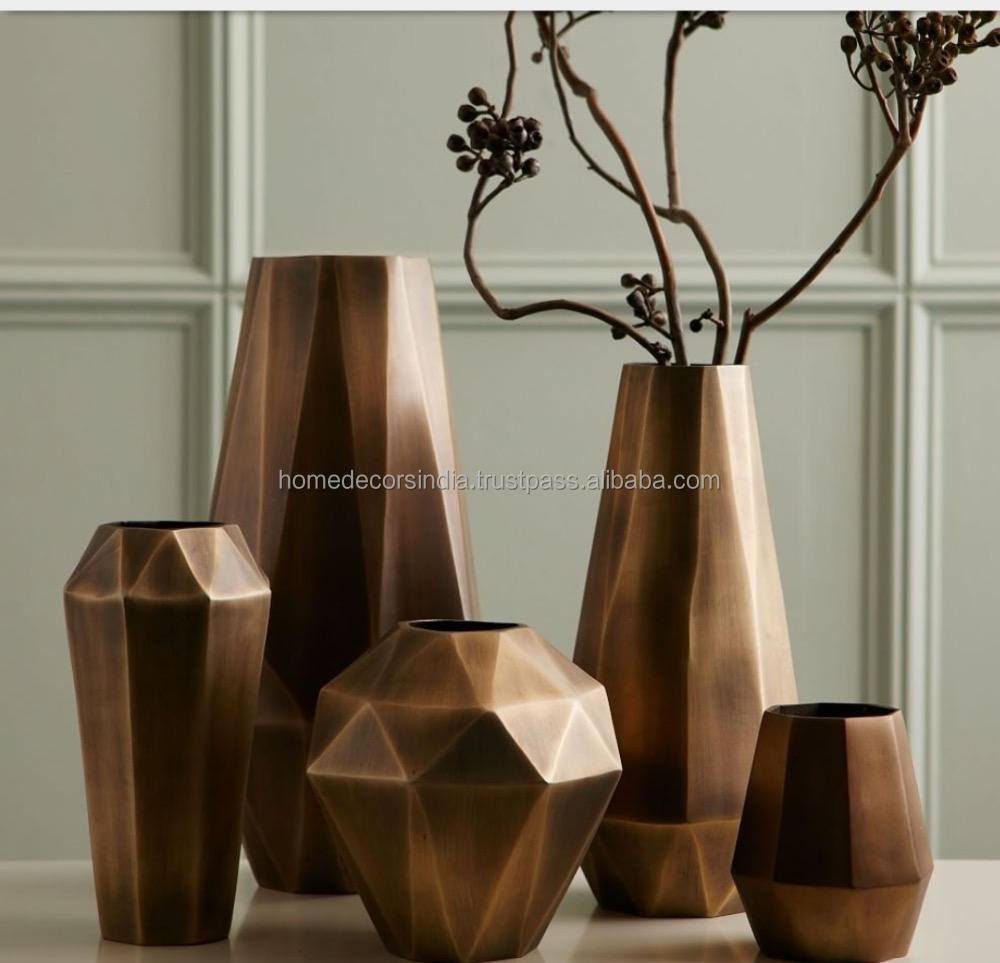 Brass /Copper Vases for hotels home bar handmade decorative wedding