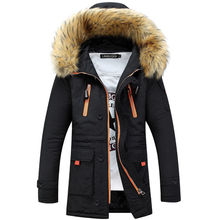 2018 Winter Jacket for Men Casual Warm Thicken Jackets Men Fashion Detachable Fur Hooded Collar