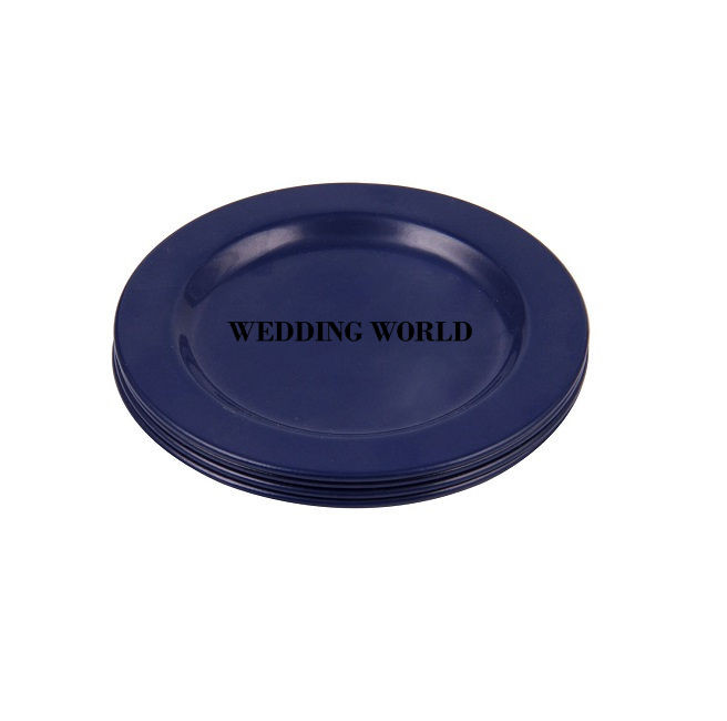 Exclusive Metal Coaster Blue Colored Round Shape Antique Quality Solid Design Metal Coaster For Home
