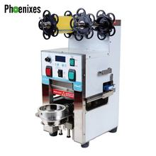 High performance  plastic and paper cup sealing machine for coffee and bubble tea equipment