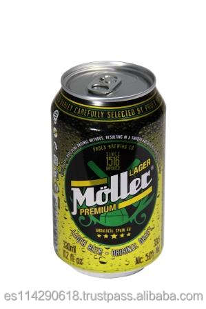 MOLLER Premium Lager Beer 5.0% canned 24x33cl