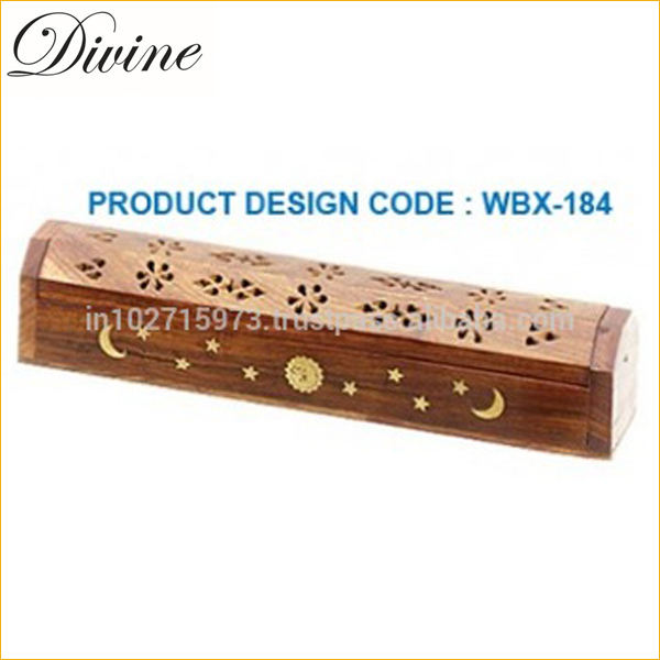 Coffin Type Wooden Incense Burner