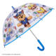 Top Blue Cartoon Paw Patrol Children Long Stick Straight Kid Umbrella for Boys Windproof Dome Bubble Transparent Clear Umbrella