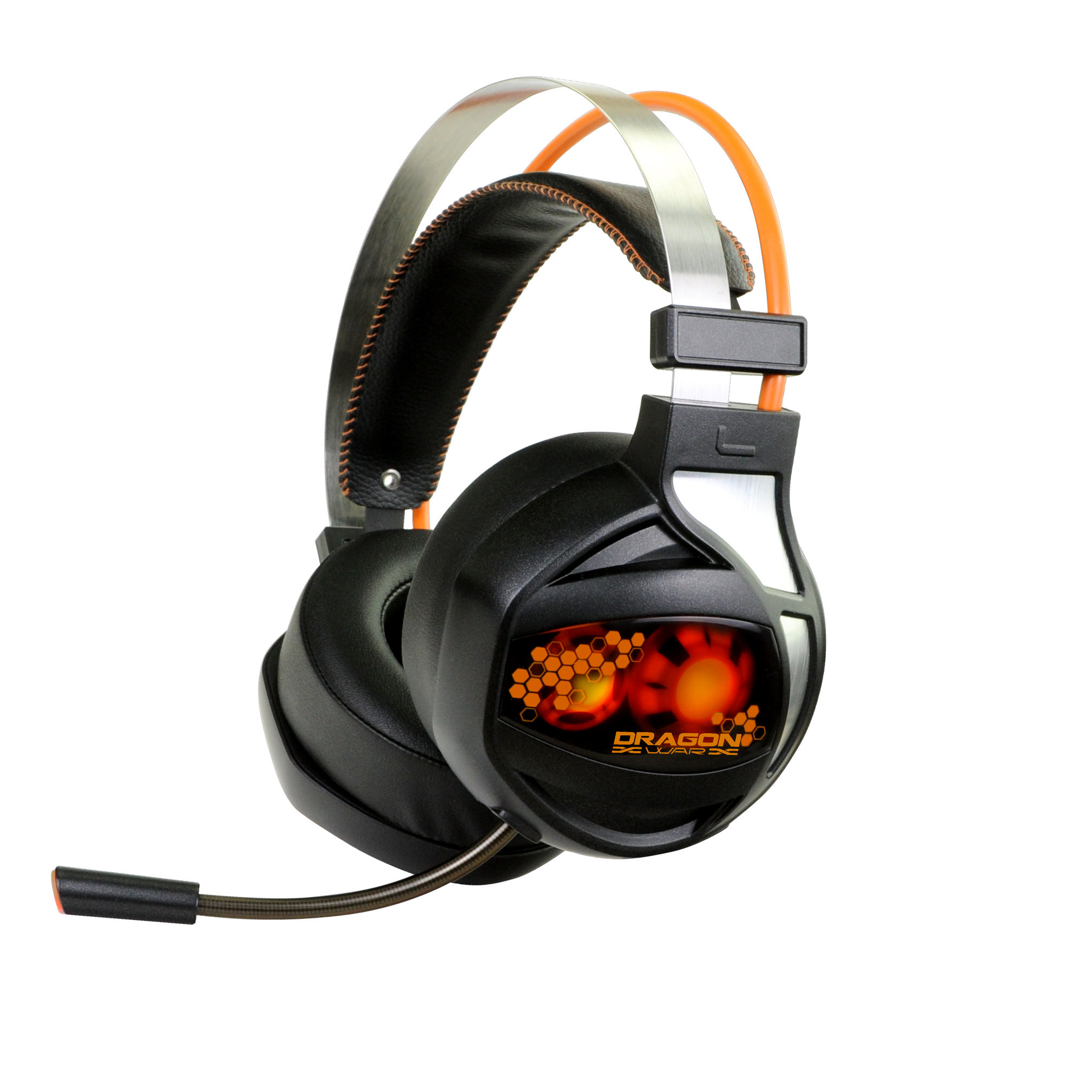 New model Comfort light big XL size LED 7.1 vibration sound gaming overhead wired gaming headset with microphone