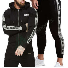 Custom brand tracksuits for men sets custom sport soccer running training jogging gym wear men