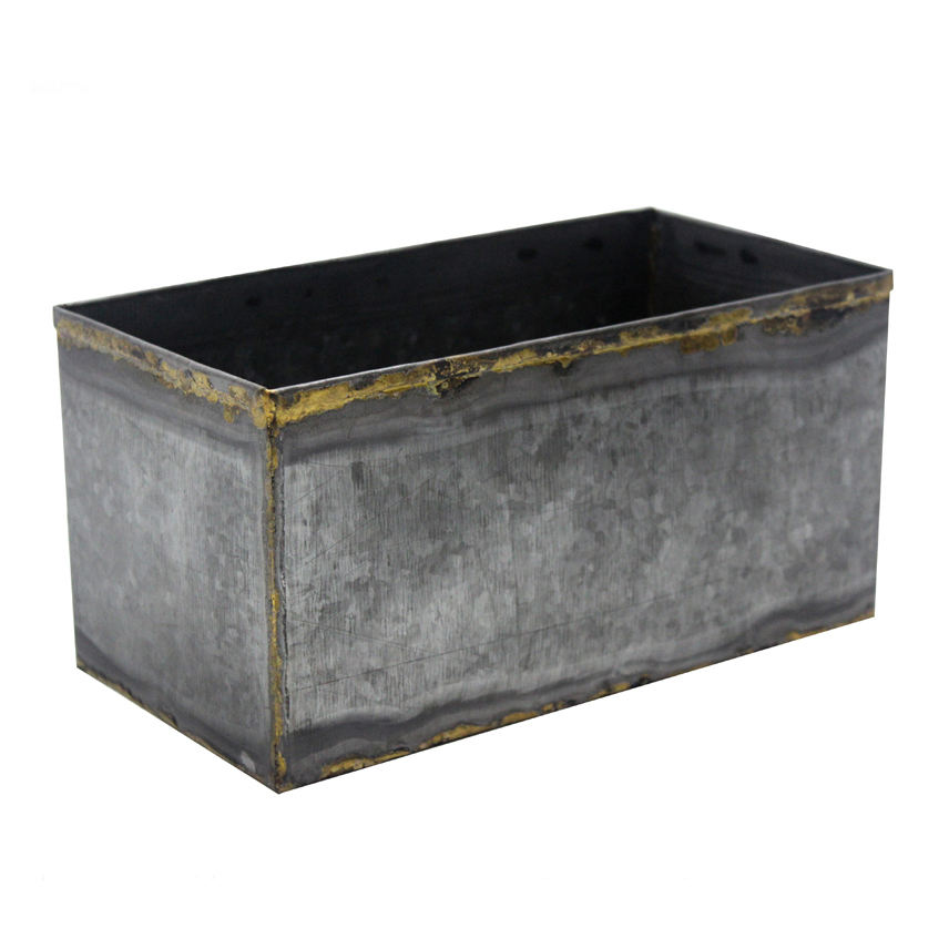 Welded Iron Rectangular Large Garden Pots and Planters