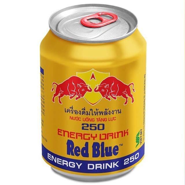 Rot Blau Energy Drink 250 ml Caned Für Export