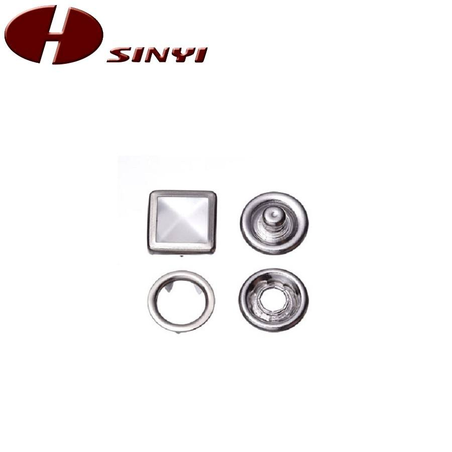 Prong Snap Square Pearl Button M701