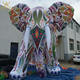 5m inflatable giant Clay color sculpture elephant
