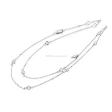 Charming 14 K White Gold Necklace 0.50 carat wight Natural Diamonds