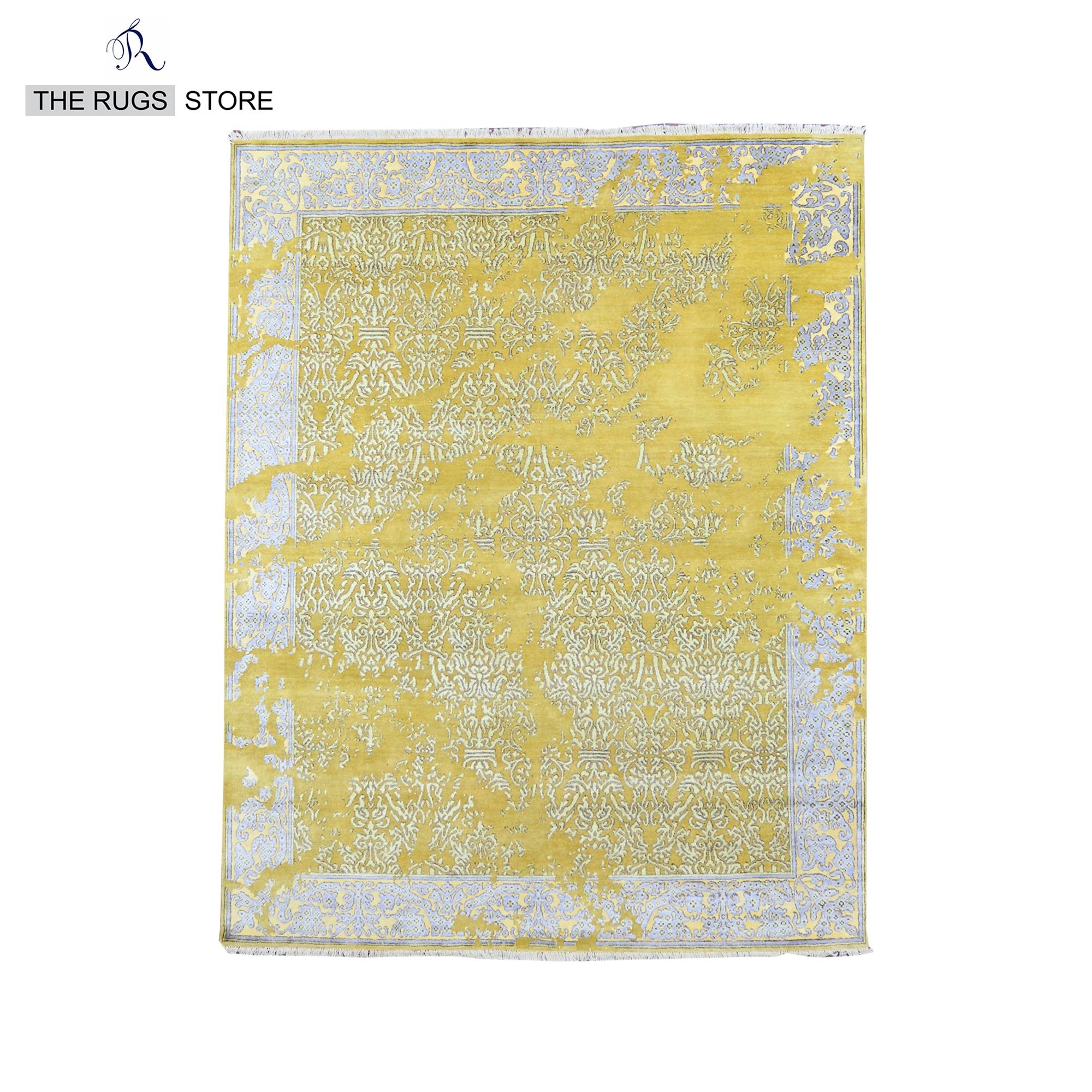Picture of: Hand Knotted Jan Kath Erased Design Yellow M 138 8×10 Wool And Viscose Modern Area Rugs Buy Viscose Rug Hand Woven India Wool Rug Modern Area Rugs Product On Alibaba Com