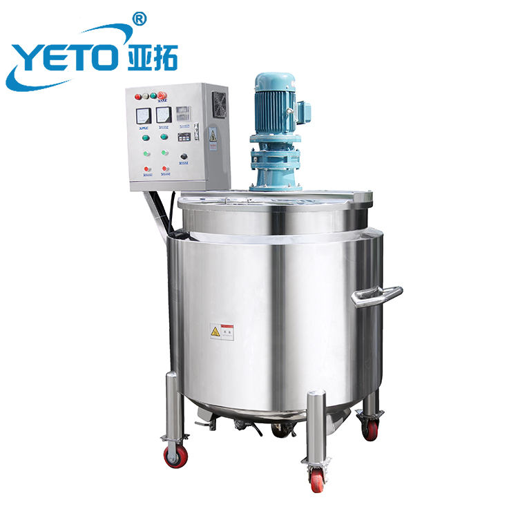 YETO factory price of 100L Mixing tank liquid soap Mixer Agitator cosmetic making machine