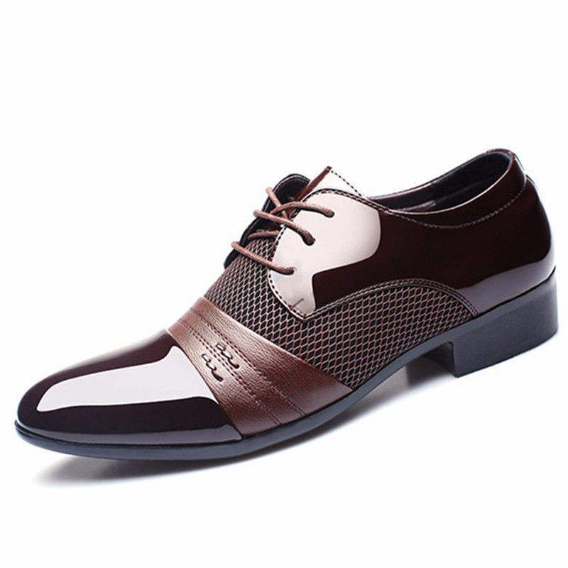 2017 new fashion European genuine leather men casual dress shoes