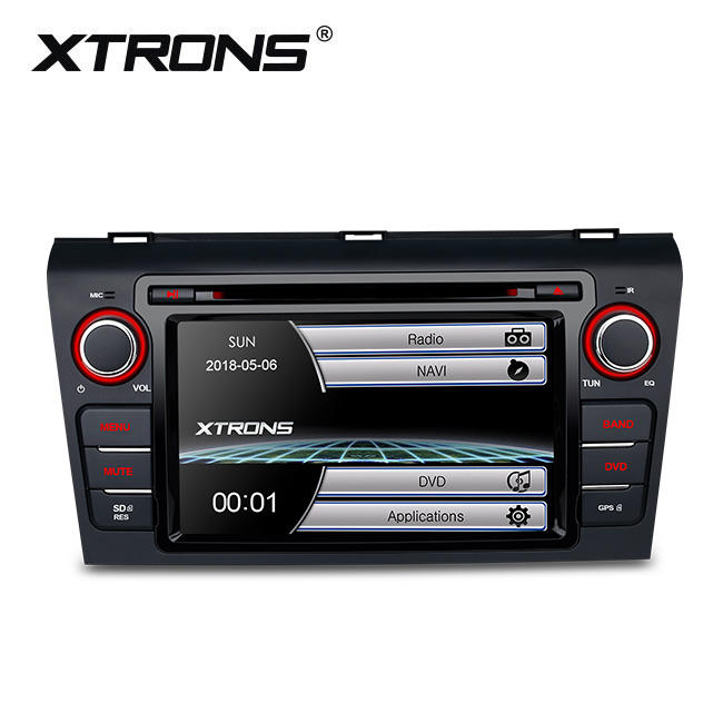 "XTRONS 2 din 7"" GPS Navigation car video interface for mazda 3 with Steering wheel control"