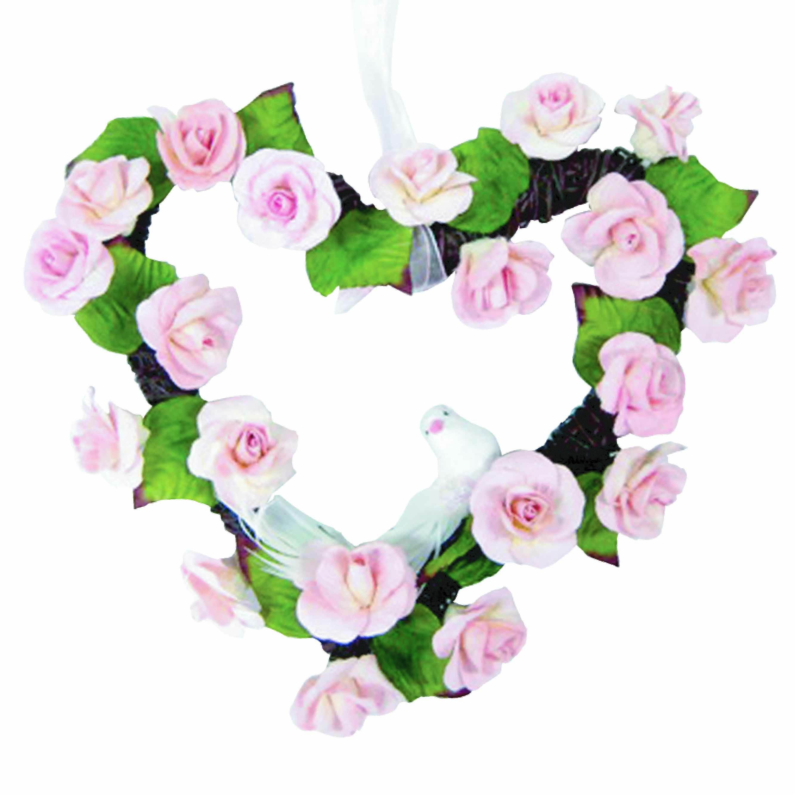 Wholesale Home Decor Mulberry Paper Pink Rose Christmas Wreath from Thailand