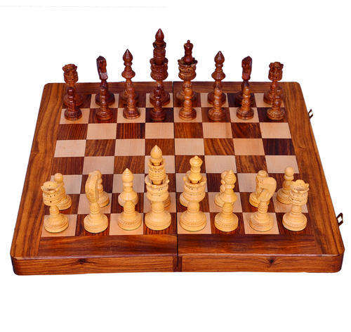 Wooden Chess game set for playing