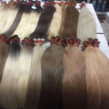 Best seller hair thin, strong, soft and silky Bulk hair in all colors ombre 100% human hair virgin hair