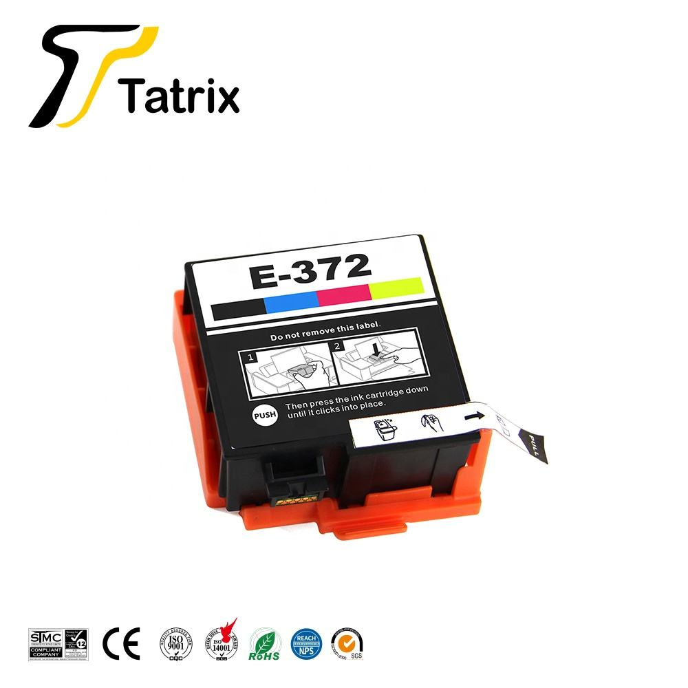Tatrix T372 T372090 Premium Warna Tinta Kompatibel Cartridge untuk Epson Picturemate PM520 Printer Foto