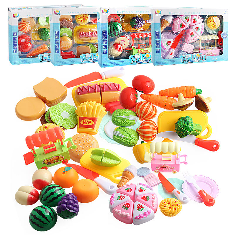Realistic Kitchen Cooking Pretend Play Food Toy Sets