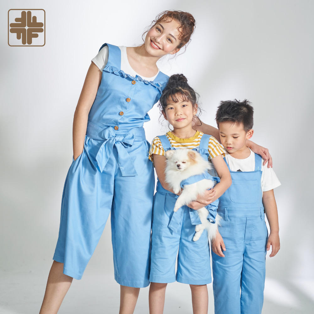 Custom OEM Mother Daughter Kids Matching Overall Family Clothing Set