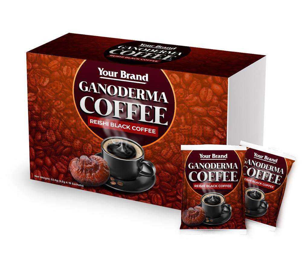Ganoderma Reishi Zwarte Koffie Oem Private Label