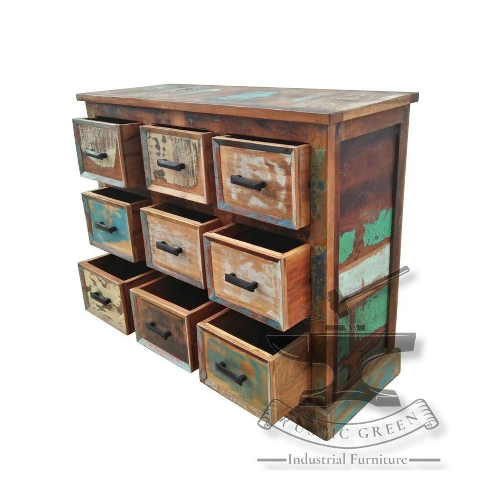 Industrial Reclaimed Wood Chest of Drawer