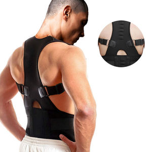 2019 adjustable shoulder power magnetic posture support corrective back brace for unisex
