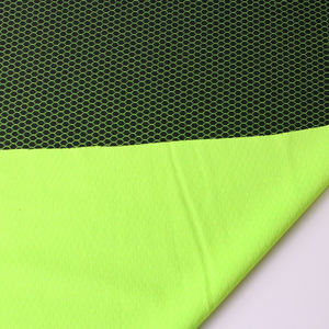 Dope Dyed Fluorescent Yellow Comfortable Sports Recycle Fabric