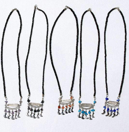 Necklaces with White Cristal Natural Rock Stones Fashion Jewelry Wholesale
