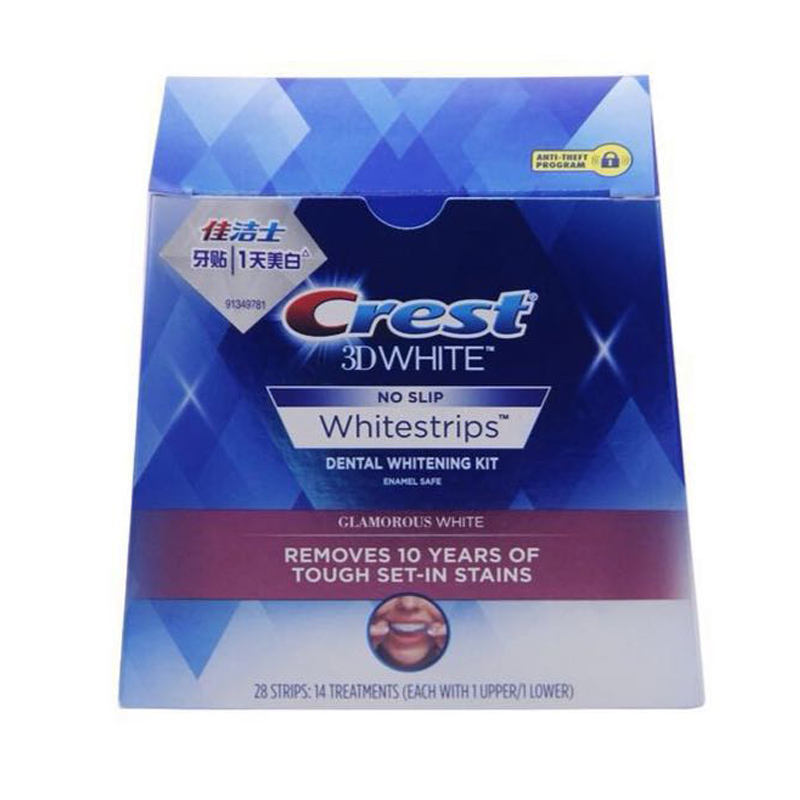 Crest 3d white teeth Whitestrips advanced vivid 1 box 20 Pouches Original Oral Hygiene Teeth Whitening strips crest