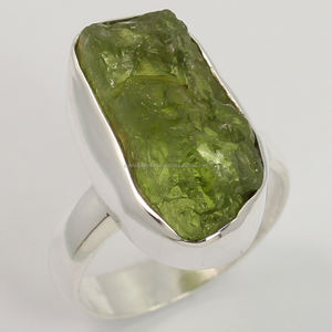 Wholesale Jewelry per grams 925 Silver Rings Raw Rough Amethyst, Citrine, Peridot and more stones