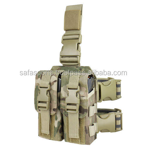 Condor MA65 Drop Leg M4 Mag Pouch 5.56mm .223cal MOLLE Rifle Magazine Thigh Rig