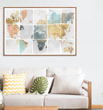 map puzzle colorful Home decoration Canvas Printing Wall art