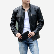 Men's Leather Jackets Men Stand Collar Coats Male Motorcycle Leather Jacket Casual Slim Brand Clothing 5XL