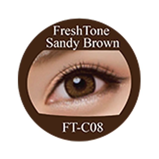 Sandy brown color of the wind Freshtone cosmetic contact lenses Made in Korea