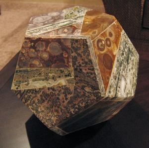 Dodecahedron Leopard Jasper Stone Dodecahedron Grosir Kristal Dodecahedron