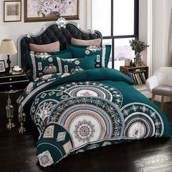 Indian Handmade Bohemian 4Pcs Bedding Set 100% Pure Cotton C