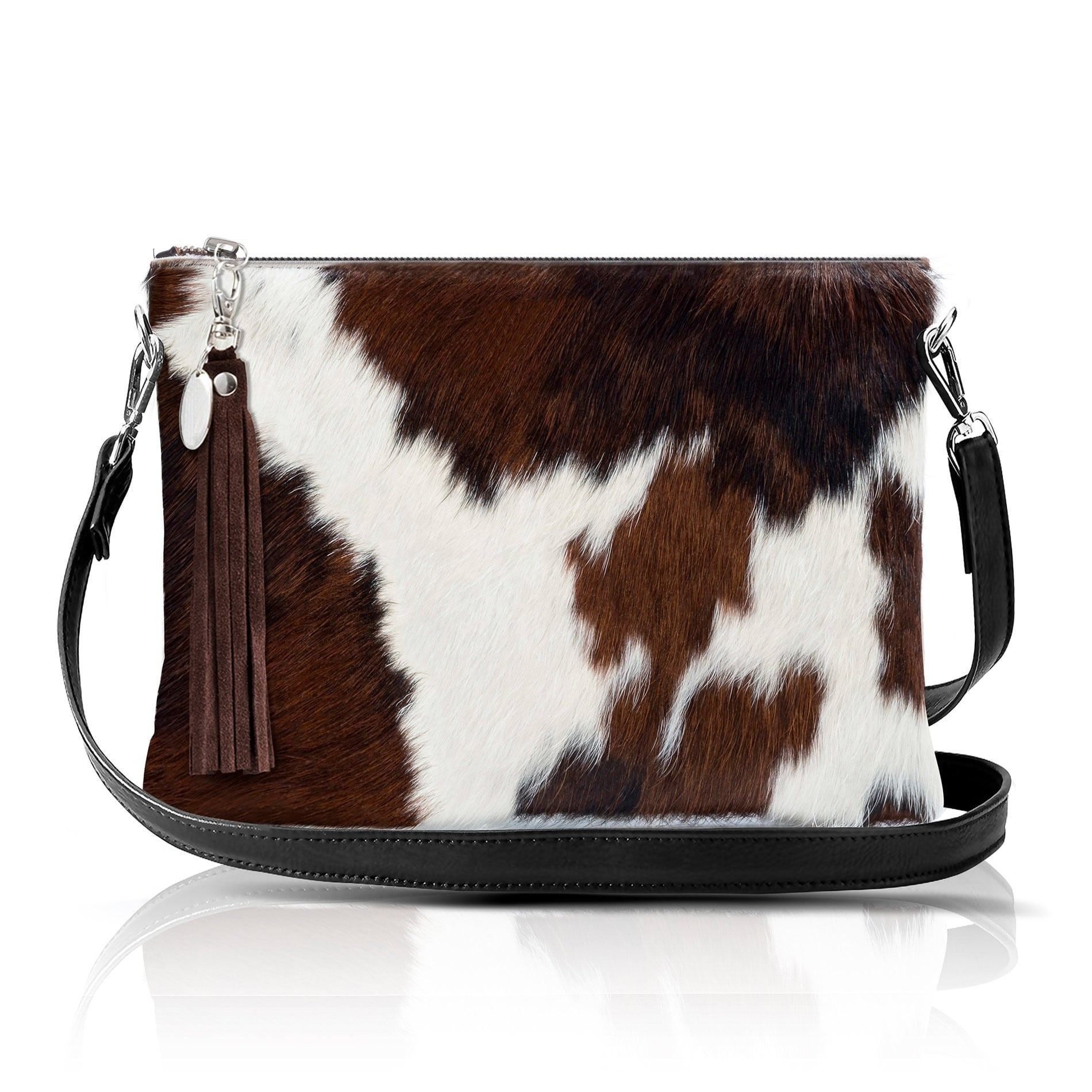 New Stylish Personality Zipper Ladies Cowhide Fur Leather Long Wallet Purses