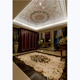 Elegant waterjet marble inlay flower pattern hall flooring tiles