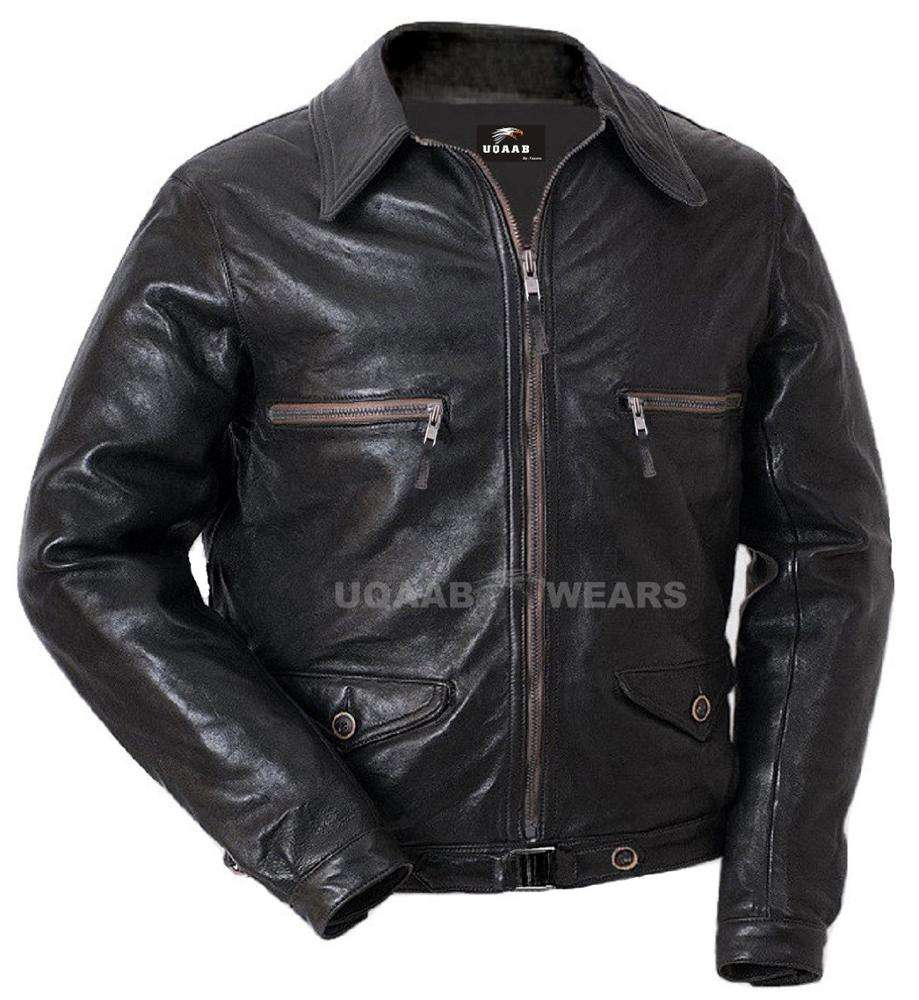 Men Fighter Pilot Bomber Air Force Aviation Luftwaffe Officer Real Genuine Leather Jacket Flight Crew Leather Jacket Wholesale