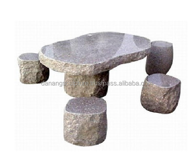 Natural Marble Granite Carved Stone Table And Chair Outdoor Furniture For Sale DSF-BG07
