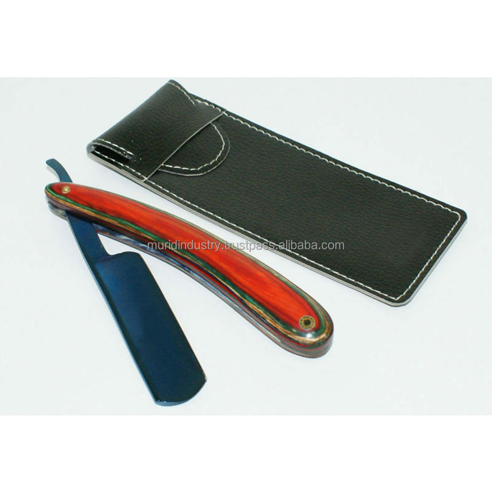 multicolored barber razor cut throat razor clean shave