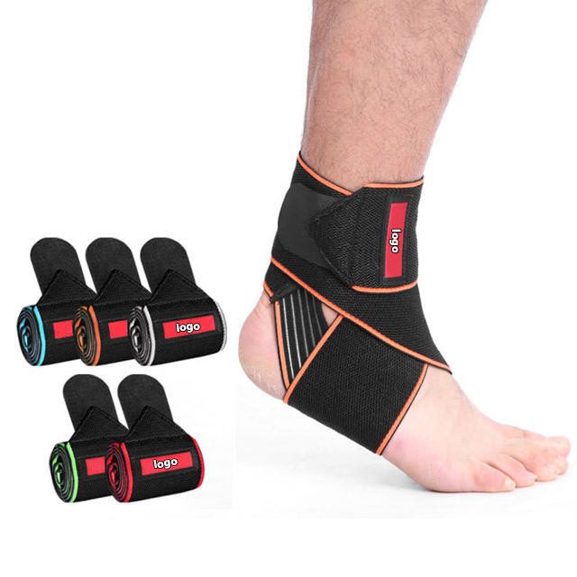 2019 amazon hot sale elastic basketball ankle brace compression support wrap for sports